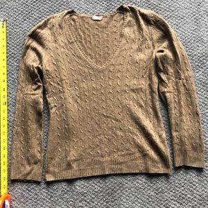 Cable knit cashmere J Crew sweater